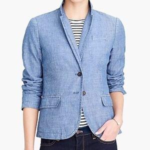 J Crew chambray blazer jacket womens size 12